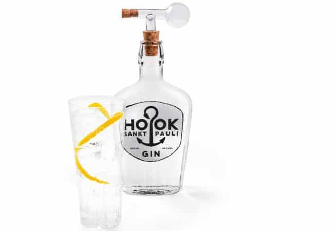 6 x HOOK Sankt Pauli Gin 44% 500ml + Glaskugel Ð Ausgie§er 2cl