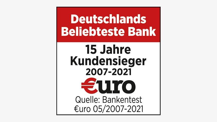 ING Beliebteste Bank - Siegel